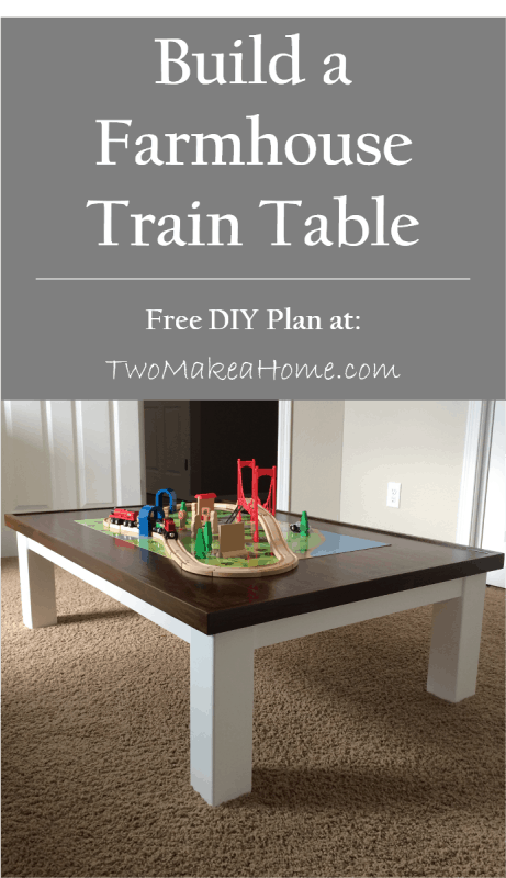 How to Build a DIY Train Table | Two Make a Home